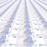 20 euros Background. 3D texture royalty free illustration