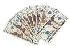 20 fatture del dollaro Fotografia Stock Libera da Diritti