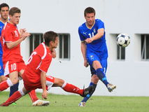 20 fifa italy switzerland under vs Royaltyfria Bilder