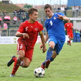20 fifa italy switzerland under vs Arkivfoton