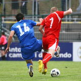 20 fifa italy switzerland under vs Royaltyfri Bild