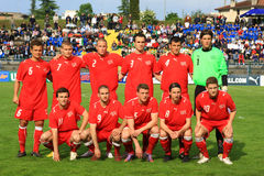 20 fifa italy switzerland under vs Royaltyfria Foton