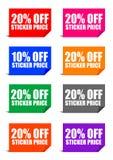 20% fora do preço de etiqueta Fotos de Stock Royalty Free