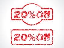 20% fora do selo do grunge ilustração royalty free