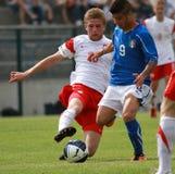 20 fotboll italy poland u vs Fotografering för Bildbyråer
