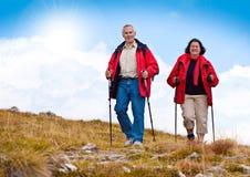20 fotvandra pensionärer Arkivfoto