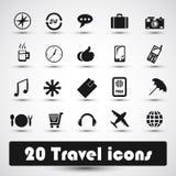 20 icone di corsa Immagini Stock