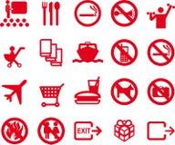 20 icone - ricreazione, corsa, informazioni Fotografia Stock Libera da Diritti