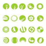 20 iconos de la insignia Fotografía de archivo libre de regalías