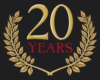 20 jaar vector illustratie