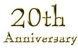 20. Jahrestag stock abbildung