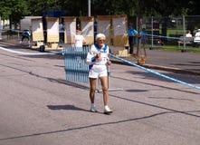 20 kilometer race går Arkivbild