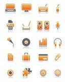 20 komputerowych określonych ikon ilustracja wektor