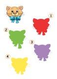 20 kotów gemowy cień Fotografia Royalty Free