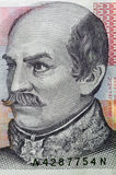20 kuna克罗地亚人钞票纵向  库存图片