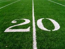 20 línea de yardas (2) Imagen de archivo libre de regalías