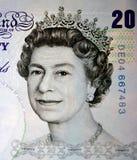 20 libbre. Ritratto della regina immagini stock libere da diritti