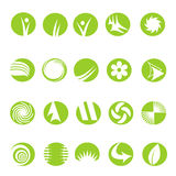 20 logo icons. Set of 20 green logo icons Royalty Free Stock Photography