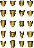 20 maski Zdjęcie Stock
