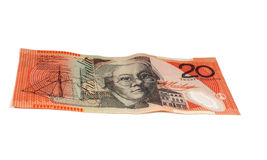 $20 note Royalty Free Stock Photo