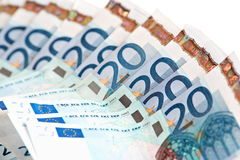 20 notes d'euro Photo libre de droits
