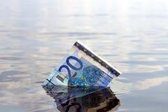20 nutowy euro słabnięcie Obrazy Royalty Free