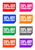 20% off sticker price. Adobe illustrator file is available Royalty Free Stock Photos