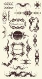 20  ornaments. A lot of design ornaments ,floral frames,borders, illustration Stock Images