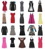 20 parties de femelle de robes Photos libres de droits