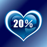 20 percent. This graphic is 20 percent heart Stock Photography