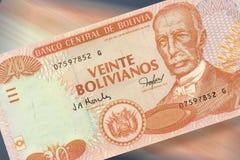 20 pesos bolivianos. A detail of bolivian currency pesos bolivianos stock images