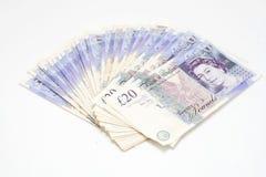 20 Pfund-Anmerkungen Stockfotografie