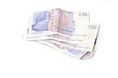 20 Pfund-Anmerkungen Lizenzfreie Stockbilder