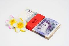 20 Pfund-Anmerkungen im Stapel Stockfotografie