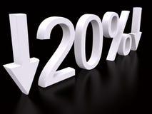 20 procent Royaltyfri Bild