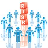 20. Risk Management in blue. Royalty Free Stock Photo