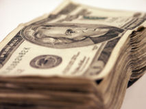 20's. A Stack of twenties US Royalty Free Stock Photos