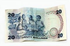 20 Schillinge von Kenia Stockbild
