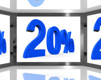 20 On Screen Showing Twenty Percent Off And Price Deals. 20% On Screen Showing Twenty Percent Off And Price Deals Stock Images