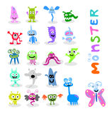 20 set cute monster. Coconut tree   illustration design Royalty Free Stock Images
