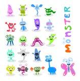 20 set cute monster. Coconut tree illustration design vector illustration