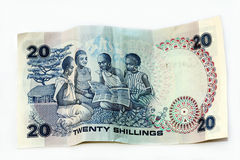 20 Shillings from Kenya Stock Image