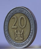 20 shillings kenyans Photographie stock