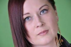 20 something female portrait on green screen Royalty Free Stock Photo