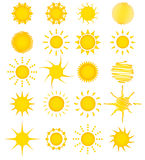 20 summer sun collection Royalty Free Stock Images