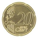 20 uncirculated eurocent nya för översikt Royaltyfri Bild