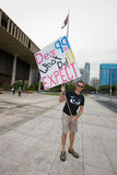 20 upptar anti apec honolulu protest Royaltyfri Bild