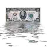 20 usa dollars Royalty Free Stock Photo