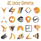 20 Vector Elements Stock Images