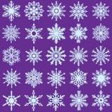 20 Vector Snow Flakes Royalty Free Stock Photo